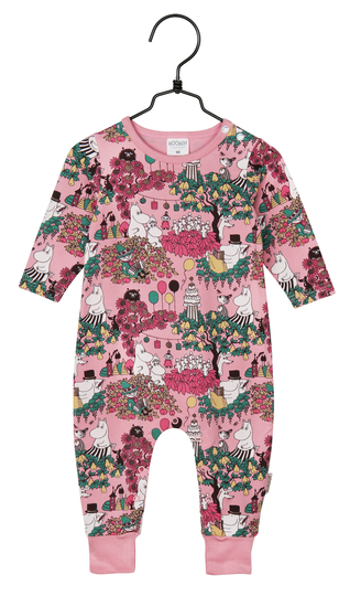 Moomin babies' Time for Celebration pajamas, rose