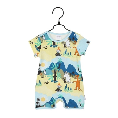 Moomin babies' Tropical playsuit, green