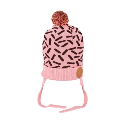 Moomin babies' knitted beanie, pink