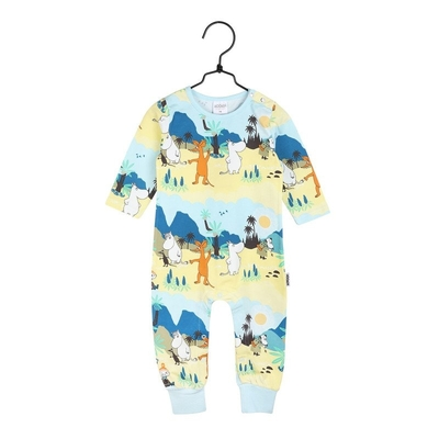 Moomin babies' rompers Tropical, green