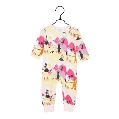 Moomin babies' rompers Tropical, light pink