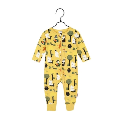 Moomin baby's Forest Trip pajamas, yellow