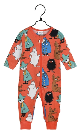 Moomin baby's On watch pajamas, orange