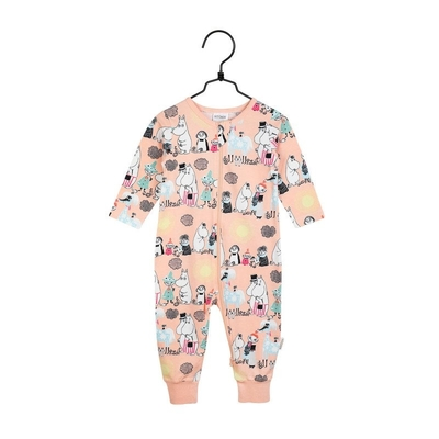 Moomin baby's Summer Day pajamas, melon-colored