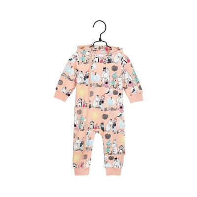 Moomin baby's Summer day jump suit, melon-colored