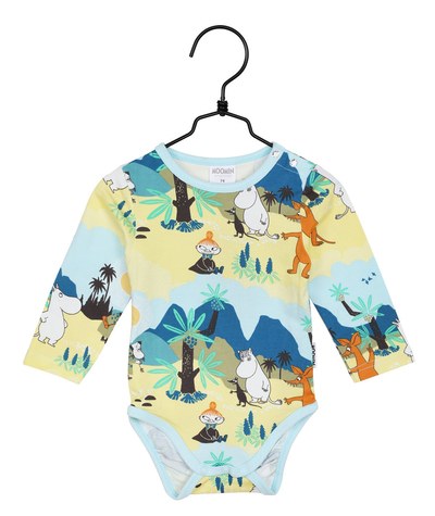 Moomin baby's Tropical body suit, green
