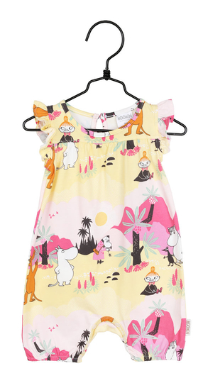 Moomin baby's Tropical playsuit, light pink