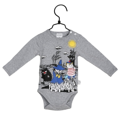 "Moomin baby's body suit, ""Spring day"""