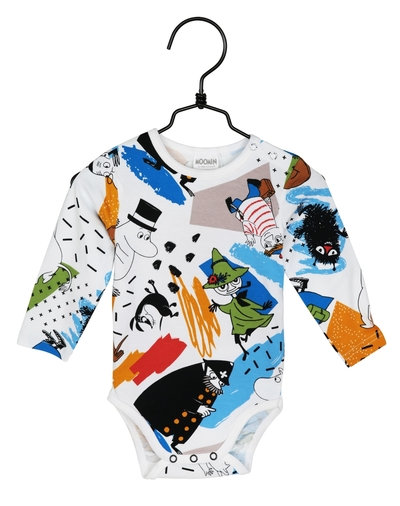 Moomin baby's body suit Hustle, colorful