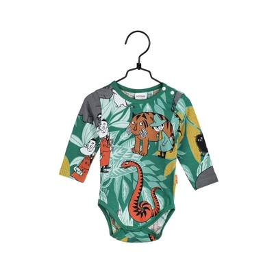 Moomin baby's body suit Jungle, green