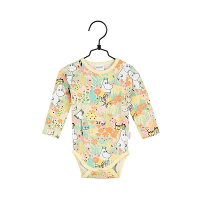 Moomin baby's bodysuit Buttercup, yellow