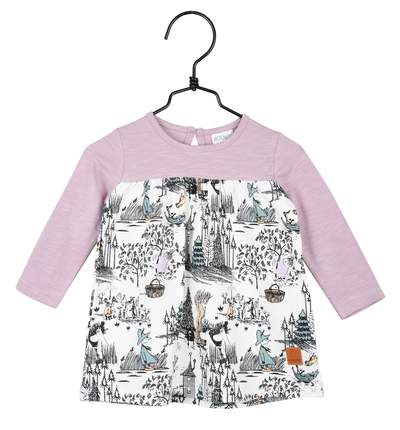 Moomin baby's dress mangrove, purple