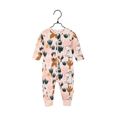 Moomin baby's pajamas Blooming, rose 62-98cm