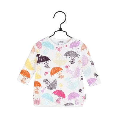 Moomin baby's tunic Umbrellas, white