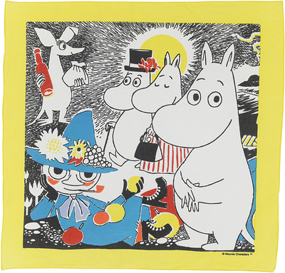 Moomin bandana-scarf, Comic 1, yellow