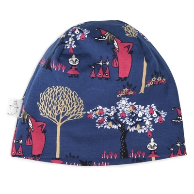 Moomin beanie for the entire family, Fillyjonk, blue, different sizes