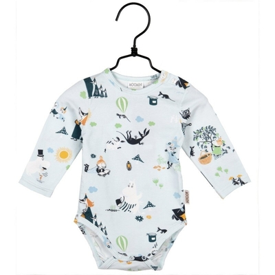"Moomin body suit ""Syyshetki"", light blue"
