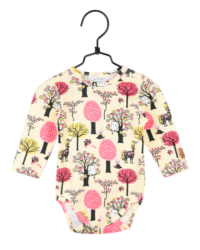 Moomin body suit fruit farm, yellow