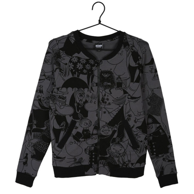 Moomin bomber jacket Plaza, grey