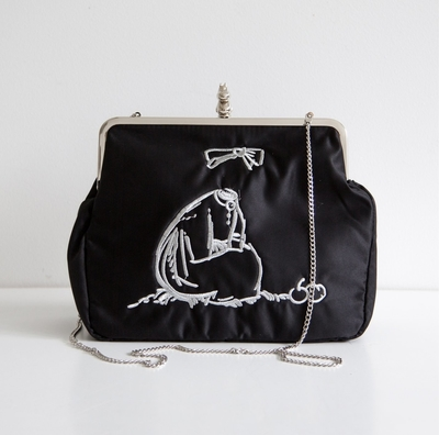 Moomin by Ivana Helsinki Ninni Purse XL, black/silver