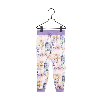 Moomin children's Anemone-sweat pants, rose-colored