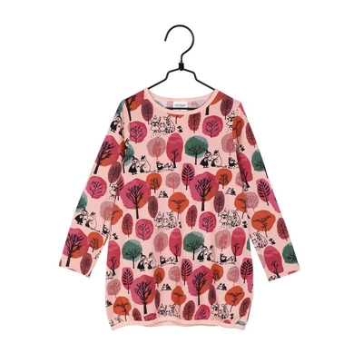 Moomin children's Autumn garden tunic, rose
