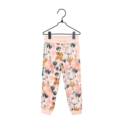 Moomin children's Blooming sweat pants, rose