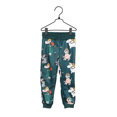 Moomin children's Eek sweat pants, green