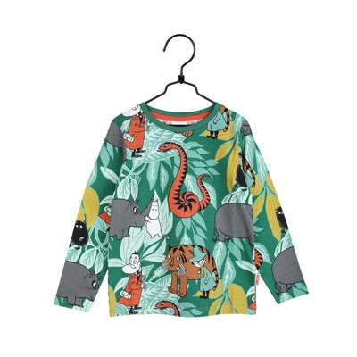 Moomin children's Jungle shirt, green