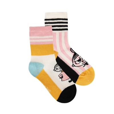 Moomin children's Little My socks 2-set, striped