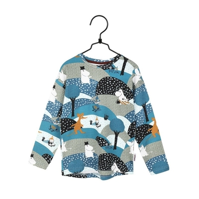 Moomin children's Nummi shirt, blue