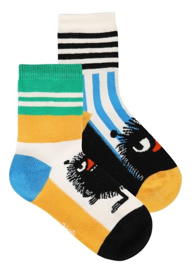 Moomin children's Stinky socks 2-set, white