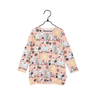 Moomin children's Summer day tunic, melon-colored