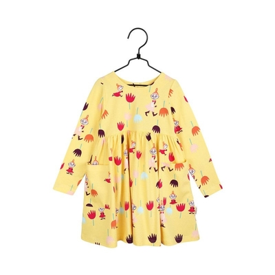 Moomin children's Tulips pocket tunic, yellow