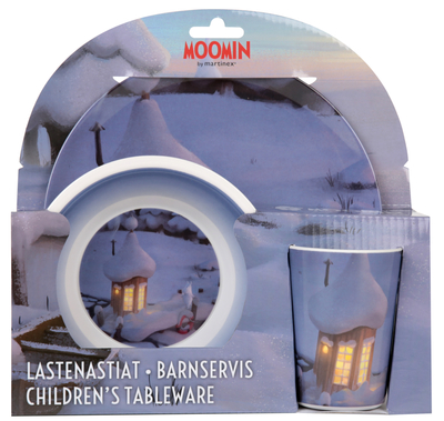 Moomin children's dinnerware set, 3 parts, 3D Winter