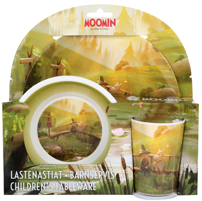 Moomin children's dinnerware set, 3 parts, 3D the Bridge