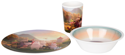 Moomin children's dinnerware set, 3 parts, Moominvalley