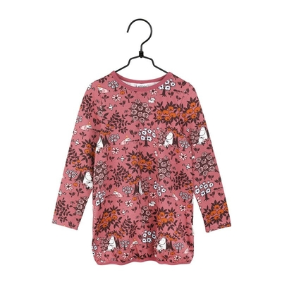 Moomin children's jersey knit tunic, mauve