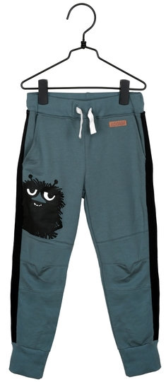 Moomin children's jersey trousers Stinky, petrol