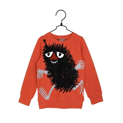 Moomin children's long-sleeved shirt Stinky, orange