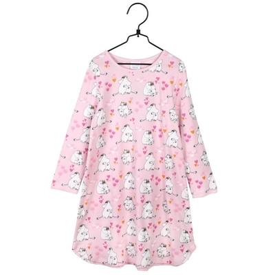 Moomin children's nightgown Love, light pink
