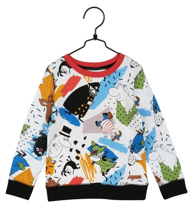 Moomin children's shirt Hustle, petrol