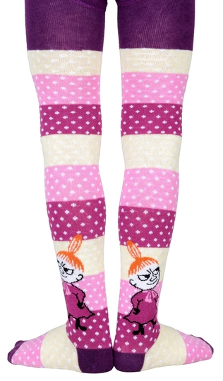 Moomin children's stockings Joy, plum