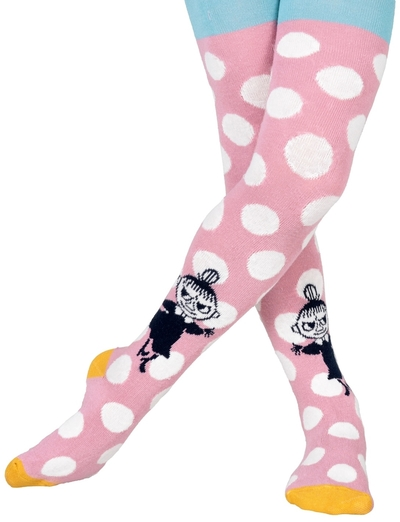 Moomin children's stockings Polka dot, pink