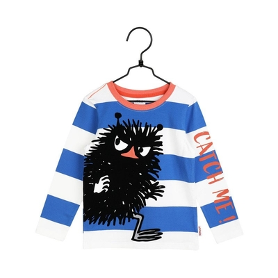 Moomin children's striped Stinky shirt, blue