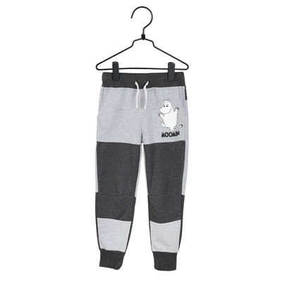 Moomin children's striped trousers, grey