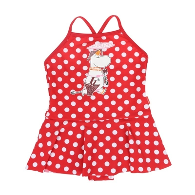 Moomin children's swimsuit, Snorkmaiden, red, 3 sizes