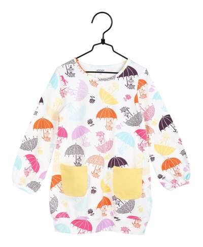 Moomin children's tunic Umbrellas, white