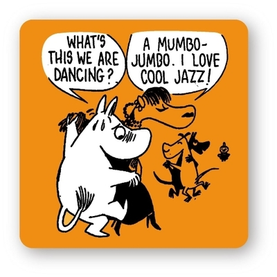 "Moomin coaster ""Cool Jazz"", orange"