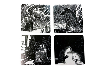 Moomin coaster The Groke, 4-pack